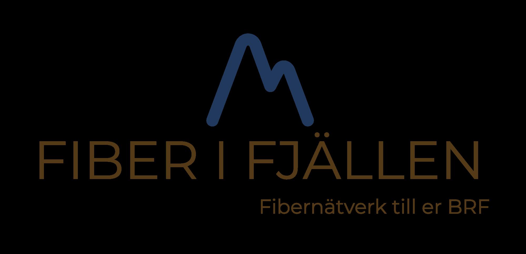 Bilden visar fiber i fjällen logo