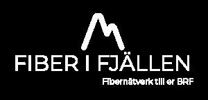 Bilden visar fiber i fjällen logo vit